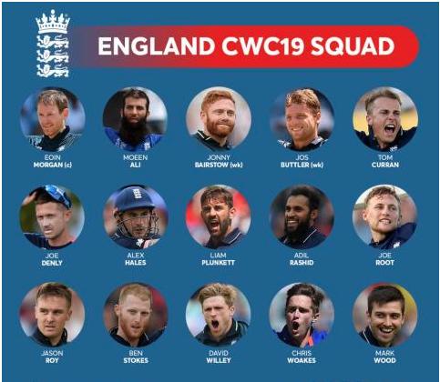 World Cup 2019 england team