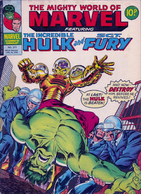 Mighty World of Marvel #277, Hulk vs the Quintronic Man