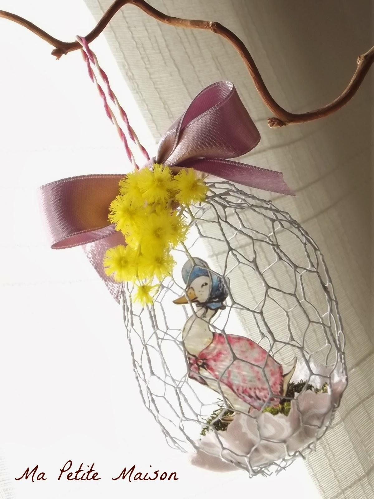 Festa di primavera le uova di pasqua ma petite maison for Conigliera da interno