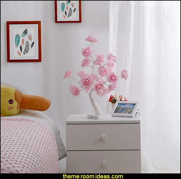 Rose Flower Desk Lamp Garden Themed Bedrooms - decorating butterfly garden themed bedrooms - garden theme decor - floral bedding - flower theme bedding - flower wall decals - garden themed wall murals - ladybug bedroom ideas - garden wallpaper murals - flower wall decals - cottage garden theme bedroom furniture - house theme bed - adult garden theme bedrooms - floral bedding - Leaf chair