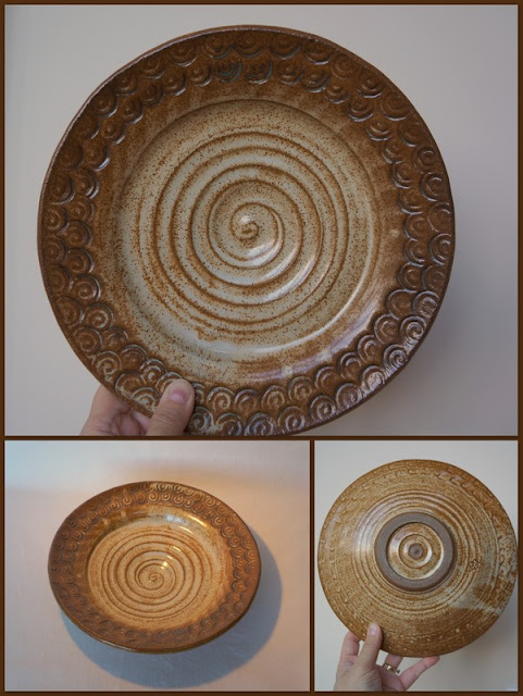 Beautiful handmade ceramic plate - pottery by Lily L.