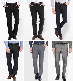 Great Deal on Men's Formal Trousers @ Jabong: Flat 43% to 60% Off + Extra 20% Off + 15% Cashback