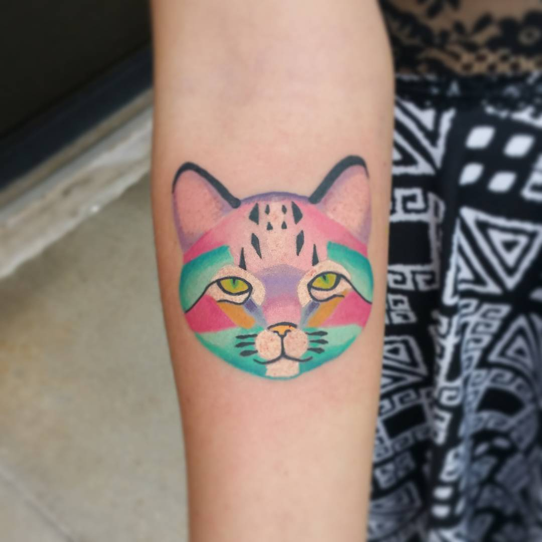 #6 Rainbow Colored Cat