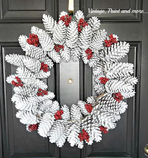 Vintage, Paint and more... diy pinecone wreath tutorial
