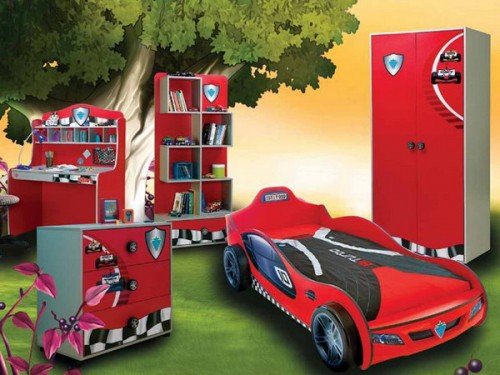 Camas para ni os con forma de autos ideas para decorar dormitorios - Moqueta para ninos ...