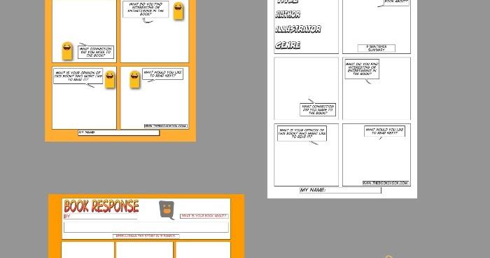 campaign literature templates - the book chook respond to literature 3 book response