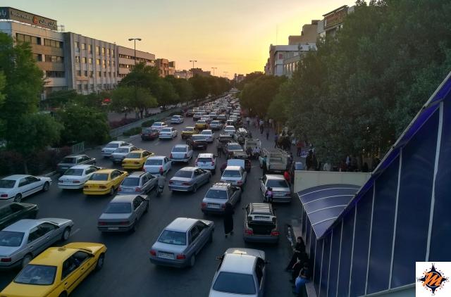 Tabriz, il centro al tramonto