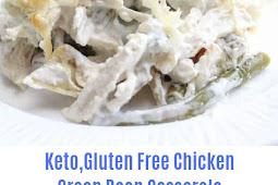 Keto,Gluten Free Chicken Green Bean Casserole