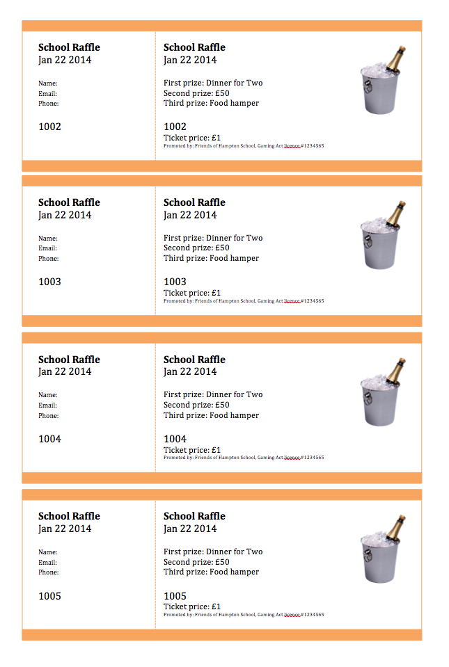 create numbered raffle tickets in word for mac 2011