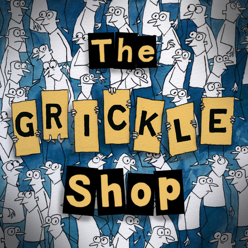 Buy exclusive Grickle shirts, mugs, and more!