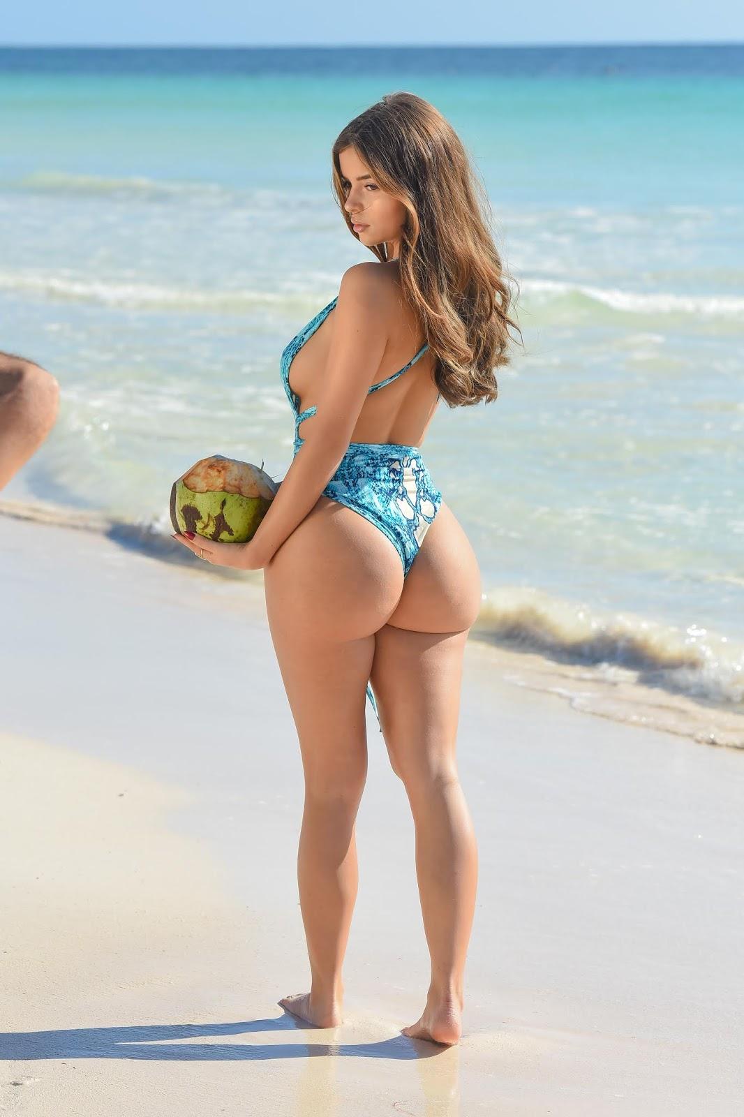 Demi Rose - Swimsuit photo shoot in Tulum Mexico - 01/11/2019
