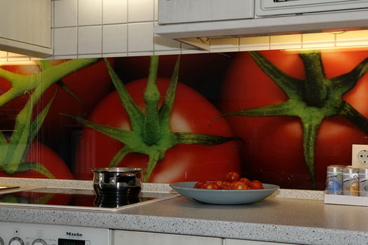 Digital Printing In Interiors Printed Glass Kitchen