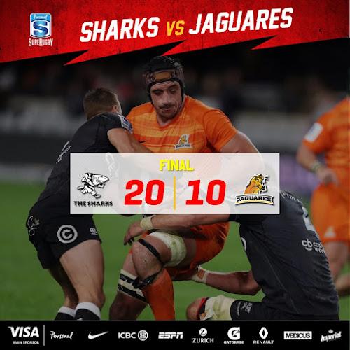 Jaguares cayó en Durban ante Sharks por 20 a 10