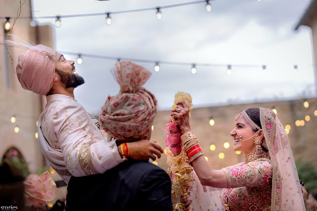 Happy Wedding – Pictures of #ViratKohli and #AnushkaSharma wedding