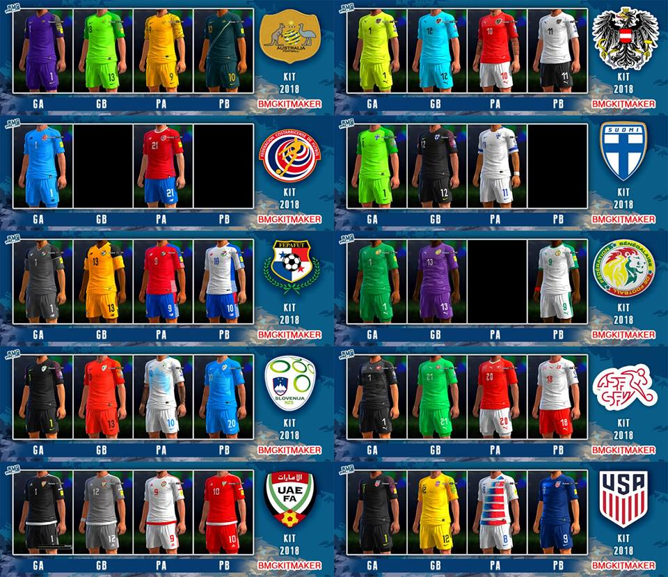 638c3a5ea9b PES 2013 National Teams Kitpack World Cup 2018 by BMG Kitmaker ...
