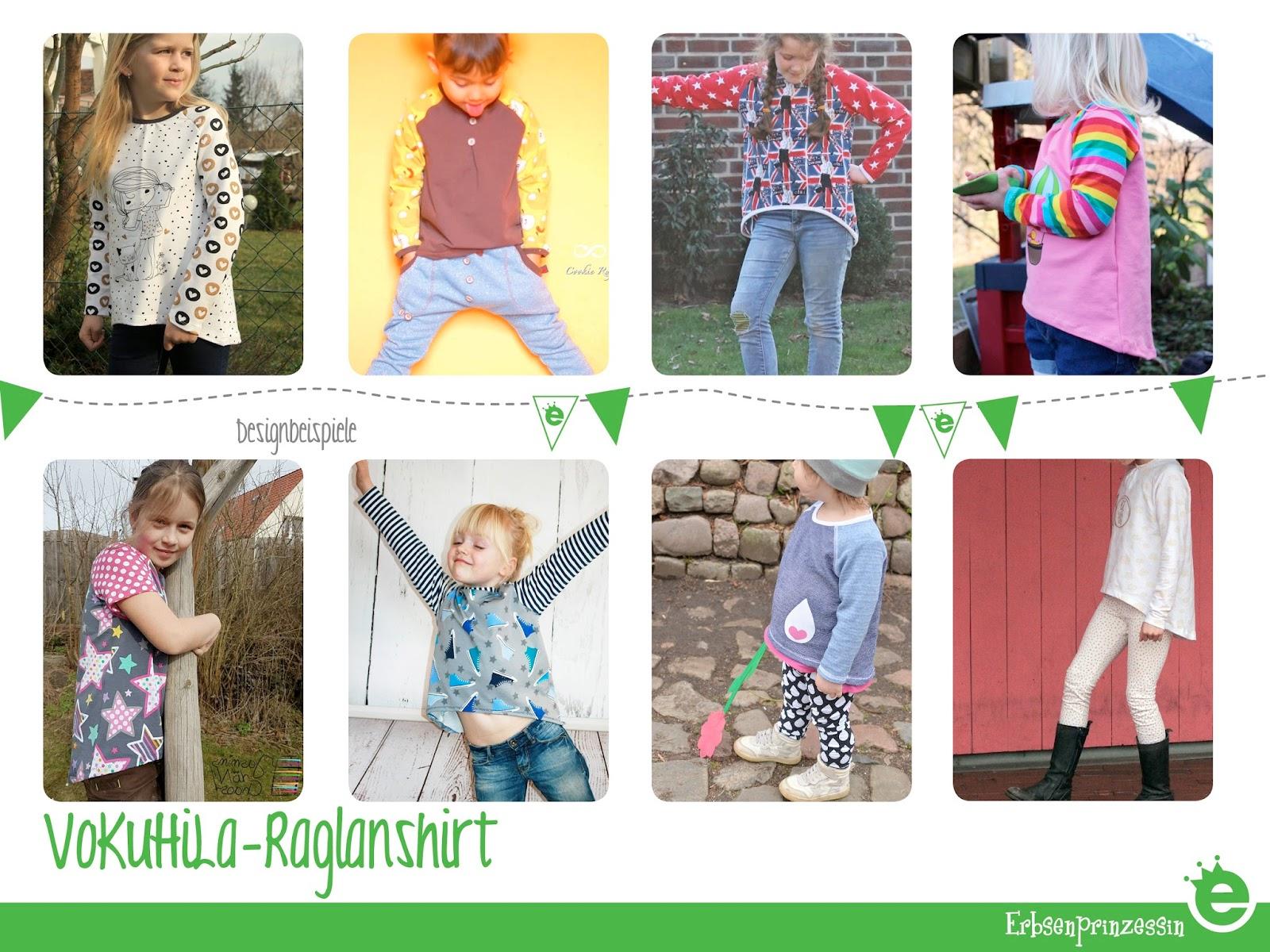 Schnittmuster: VoKuHiLa-Raglanshirt für Kinder - Erbsenprinzessin Blog
