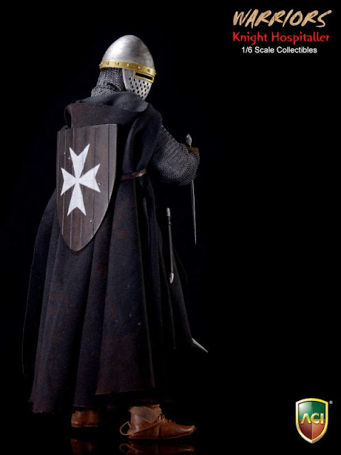 "ACI ACI23 1//6 scale  Warriors Knight Hospitaller Crusader Cloak for 12/"" figure"