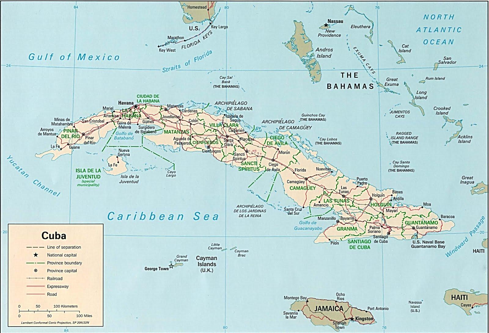 Kaart Cuba Grote Antillen Kaart Cuba En Havanna Grote Antillen