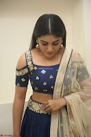Niveda Thomas in Lovely Blue Cold Shoulder Ghagra Choli Transparent Chunni ~  Exclusive Celebrities Galleries 071.JPG
