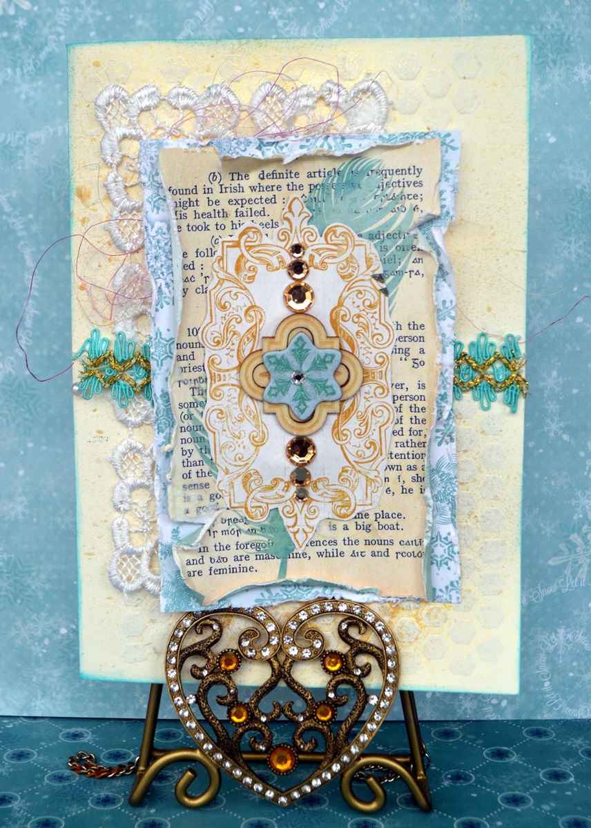 Golden Touch card by Agnieszka Bellaidea using Rose Cafe collection