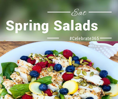 Spring Salad Blog Party - link up your favorite salad recipes #Celebrate365