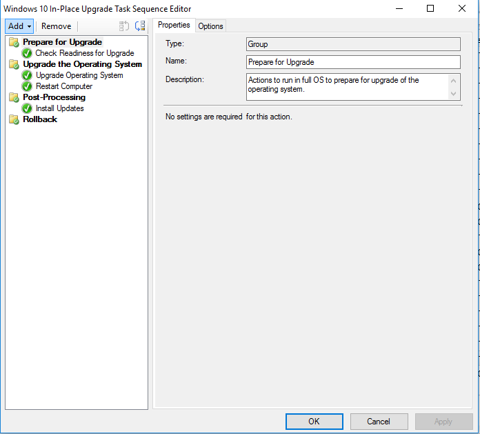 SCCM CB 1610 In-Place Windows 7 to Windows 10 CB1607 Upgrade