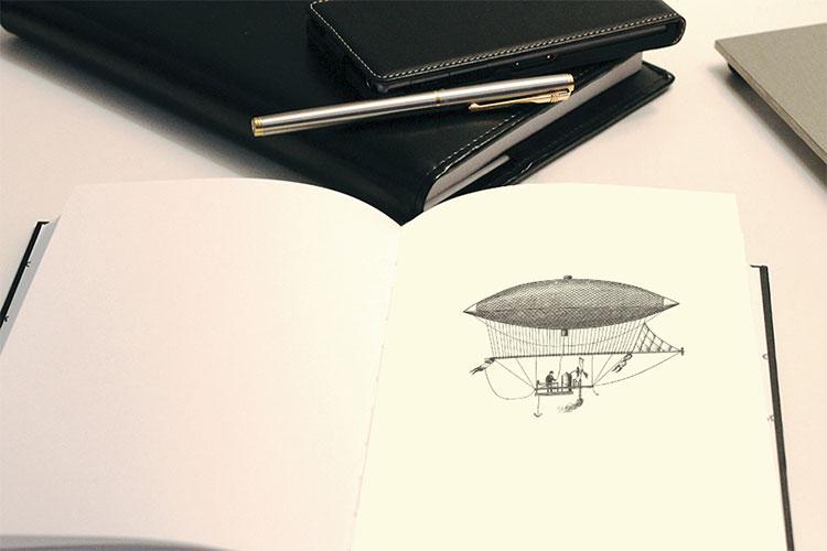 Free Notebook Sketch Mockup