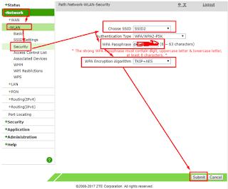 Cara Membuat Wifi Tersembunyi atau Hidden Network Di Modem ZTE F609