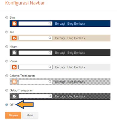 Cara Menyembunyikan Navbar di Template Default Blogger
