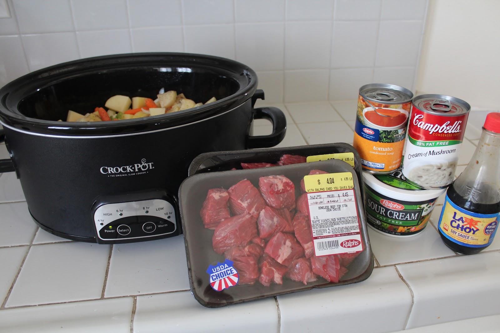 Easy Crock Pot Beef Stew - Yummy Healthy Easy