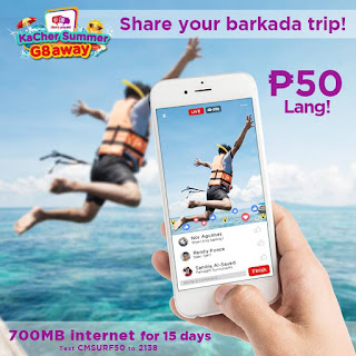 CMSURF50 : 700MB Internet Surfing for 15 Days, 50 Pesos Only! Cherry Prepaid