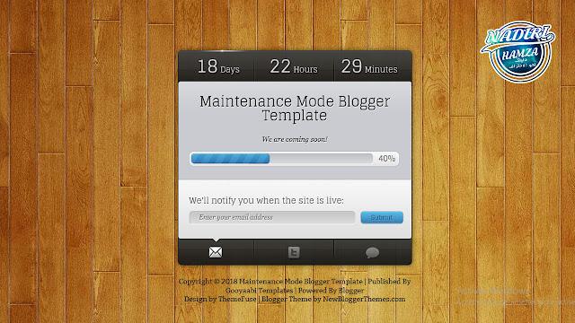 قالب بلوجر للمدونات قيد الإنشاء او التي يتم تحديثها | قوالب البلوجر