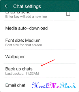 whatsapp backup chat settings