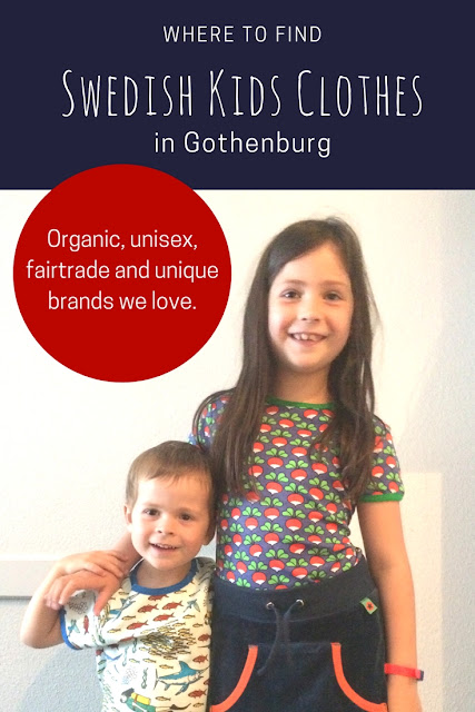 Where to buy amazing Swedish clothes for kids in Gothenburg? Our top pick for ethical, bright and unisex clothing