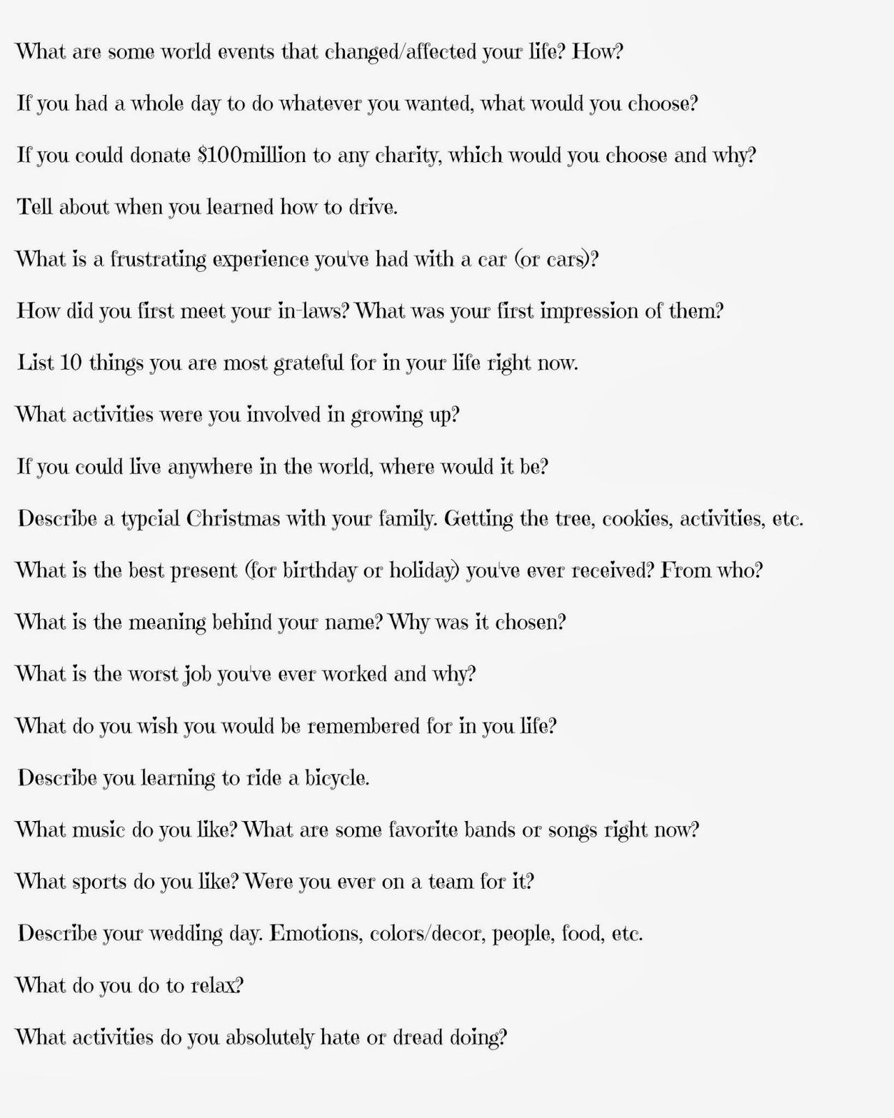 Random movie questions
