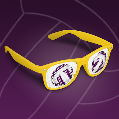 women's volleyball party shades from katzdzynes on Zazzle