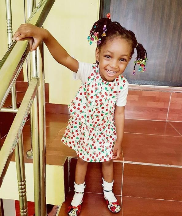 Jude Ighalo calls his cute daughter his WCW