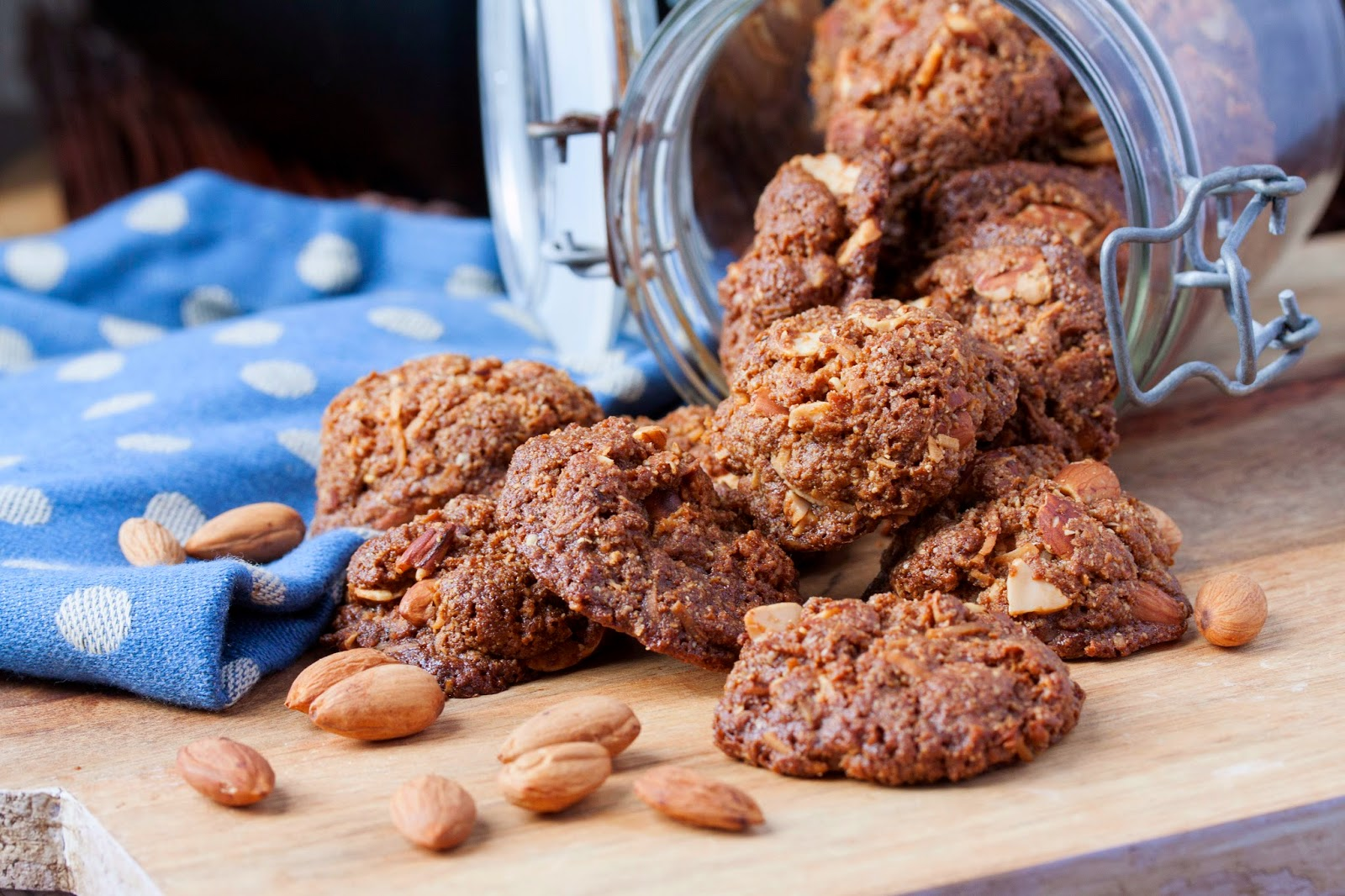 Almond Crunch Cookies 1 & 2, super crisp and crunchy or firm, soft and ...