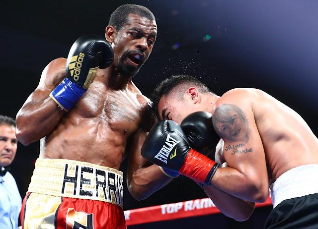 Jamel Herring def. John Vincent Moralde via UD (100-90) to claim the vacant USBA junior lightweight title