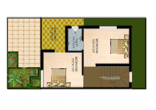 First Floor Plan at 2 Bhk Duplex