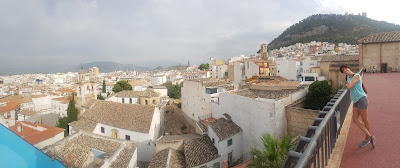 Panoramic view from the top of the Arab Baths
