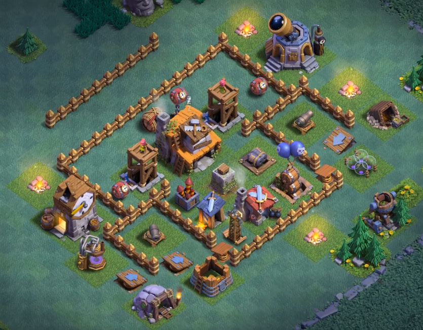 Base Coc Th 4 Desa Malam 1