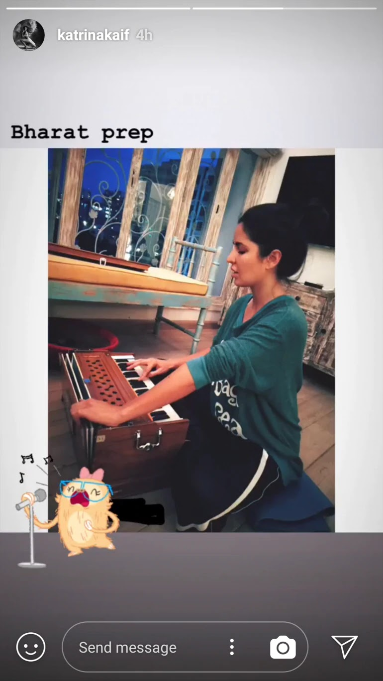 Katrina Kaif showing off her singing skills in Bharat: Instagram post suggests so!