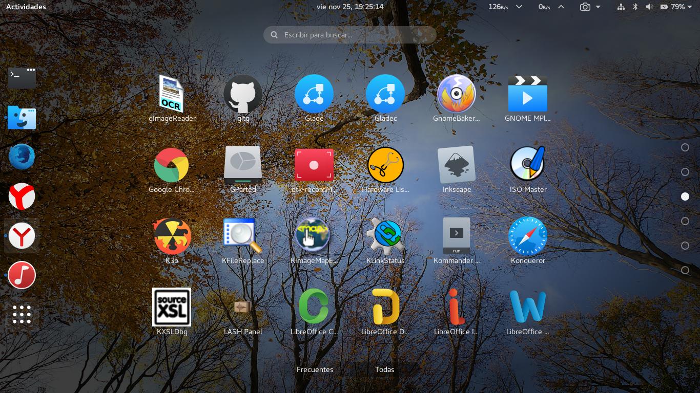 Mi personalización de Gnome 3.22 en Fedora 25 con Wayland