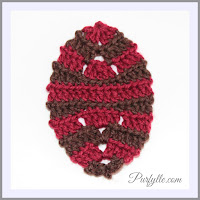 Decorative Easter Egg Back Loop Crochet Pattern 1