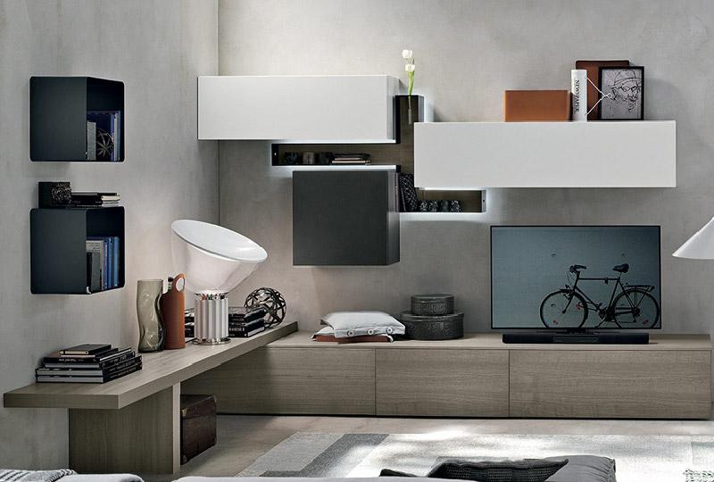 Il soggiorno moderno si arreda con le pareti attrezzate | Dettagli ...
