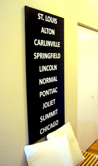 All finished and touched up with some black paint to hide the sides of the canvas and this DIY city subway art looks amazing!