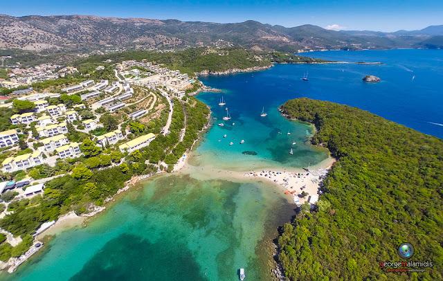 Απολαύστε το νέο εναέριο 3d κα νέες φώτο από την παραλία Μπελα Βράκα στα Σύβοτα