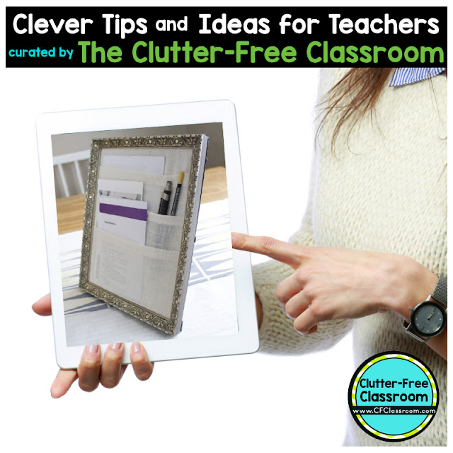 Does your teacher desk need organizing? Using a picture frame can help you become a more organized teacher.
