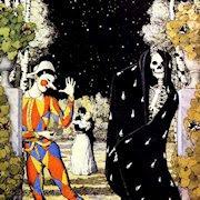 Arlequín y la muerte, por Somov